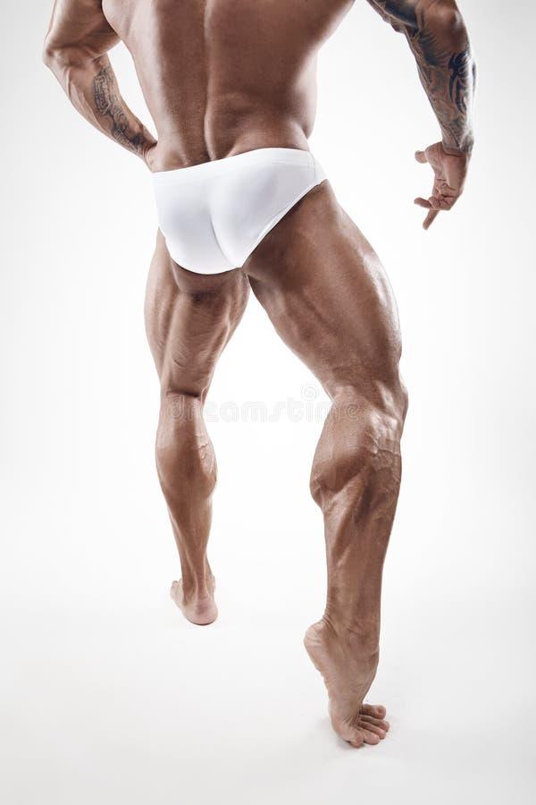Sterke Atletische Mensengeschiktheid ModelTorso die naakt spierl tonen stock afbeelding