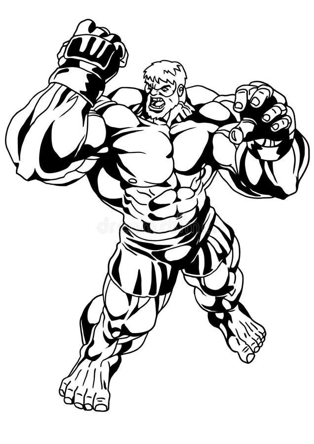 Sterke Bodybuilder stock illustratie
