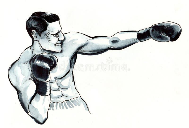 Sterke bokser royalty-vrije illustratie