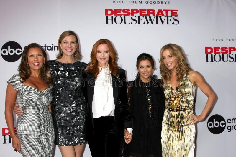Sterke Brenda, Eva Longoria, Marcia Cross, Vanessa L Williams, Felicity Huffman royalty-vrije stock foto's