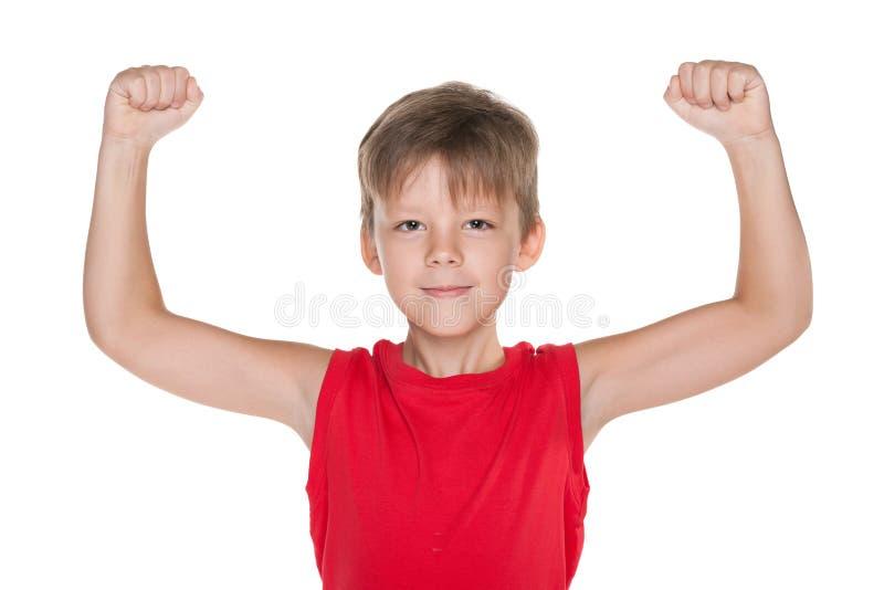 Sterke jonge jongen royalty-vrije stock foto