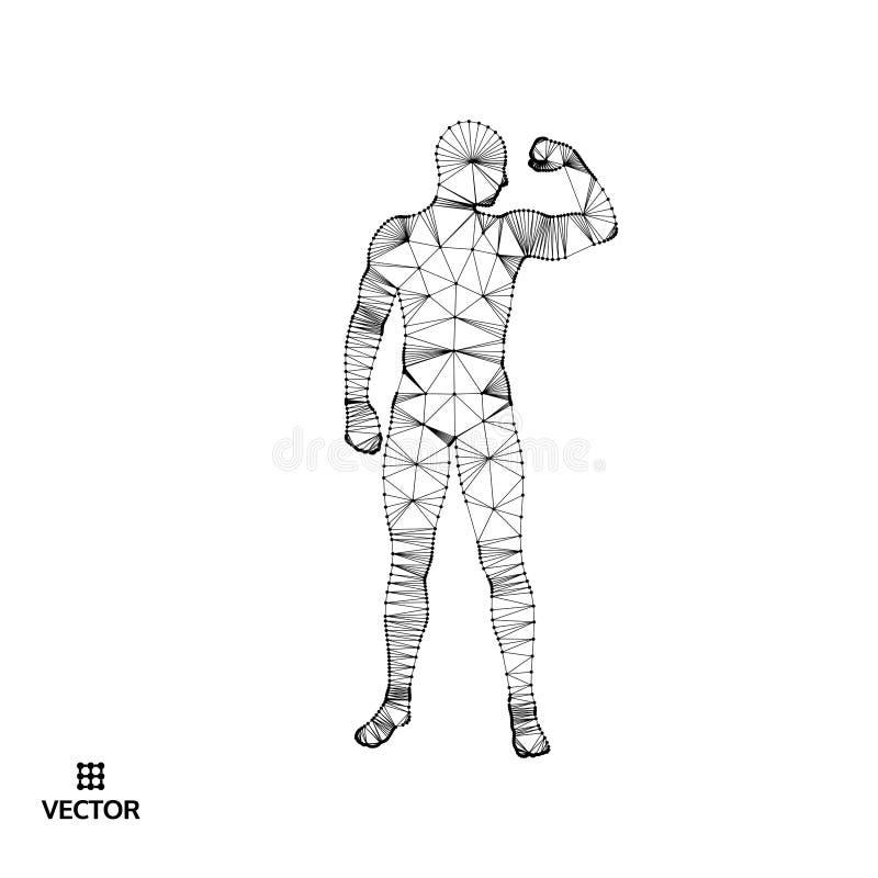 Sterke mensen Sportsymbool Vectorilustration voor ontwerp stock illustratie