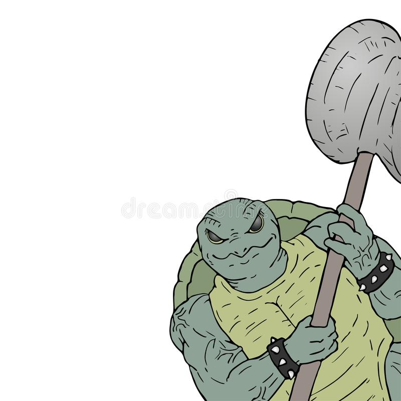 Sterke mutantillustratie stock illustratie