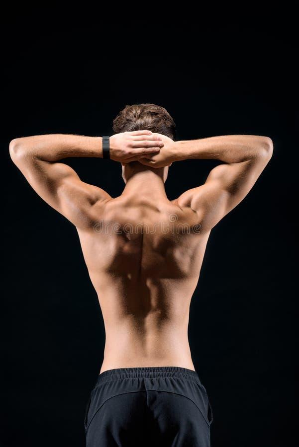 Sterke sportman met perfect lichaam stock fotografie