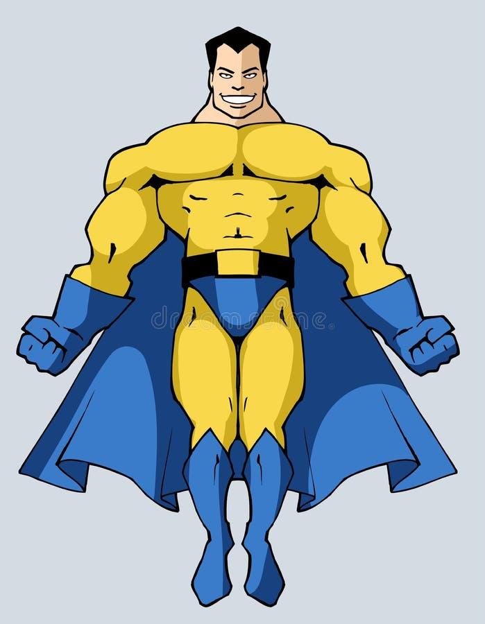 Sterke superhero royalty-vrije illustratie