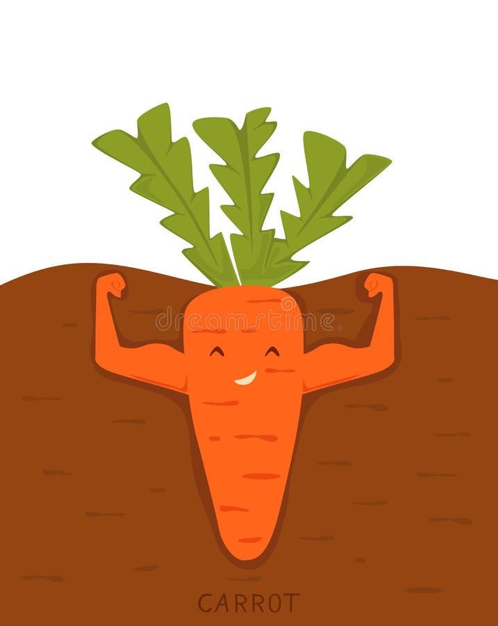 Sterke wortel vector illustratie