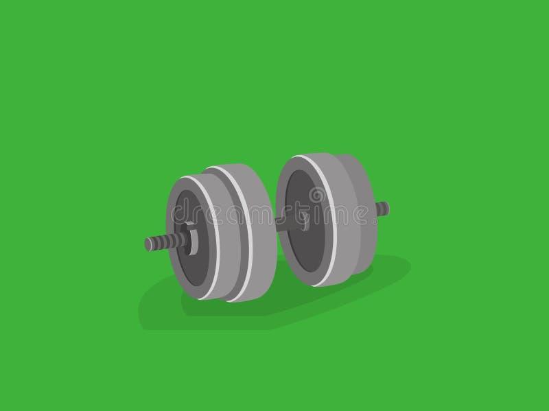 Sterkte het materiaal van de opleidingsdomoor Groot gewicht Vectorillustratie van de beeldverhaal 3d stijl stock illustratie