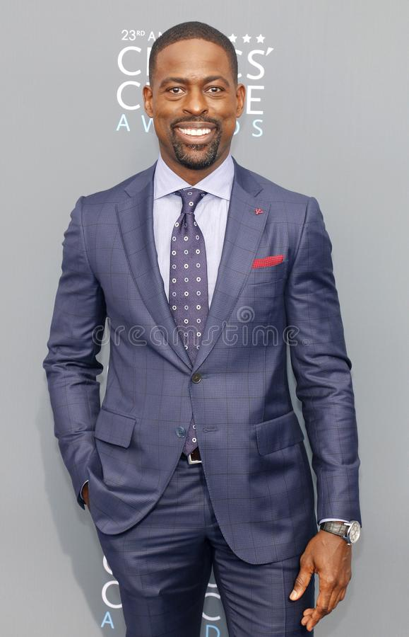 Sterling K. Brown. At the 23rd Annual Critics` Choice Awards held at the Barker Hangar in Santa Monica, USA on January 11, 2018 royalty free stock photography
