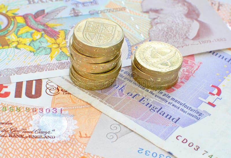 Sterlinggeld stockbild