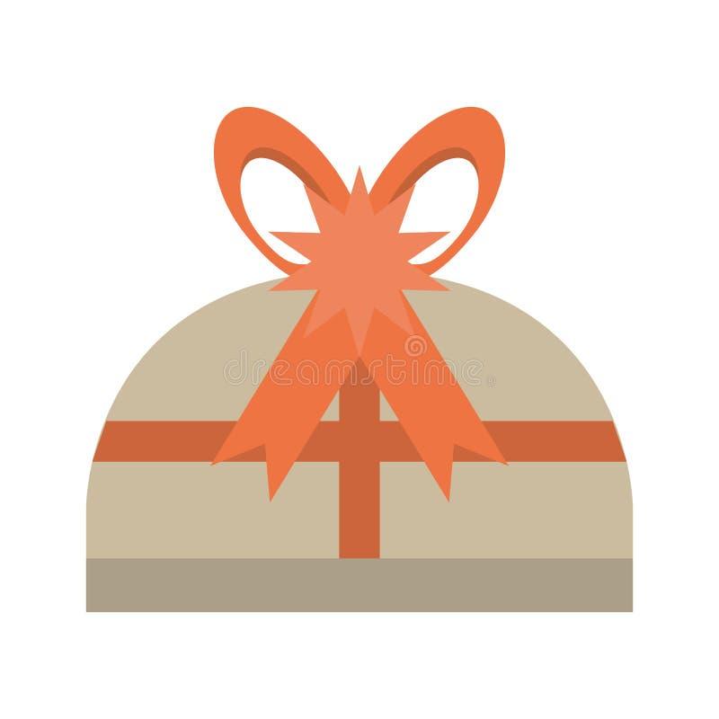 Stern-Bogenüberraschung der Geschenkbox rote lizenzfreie abbildung