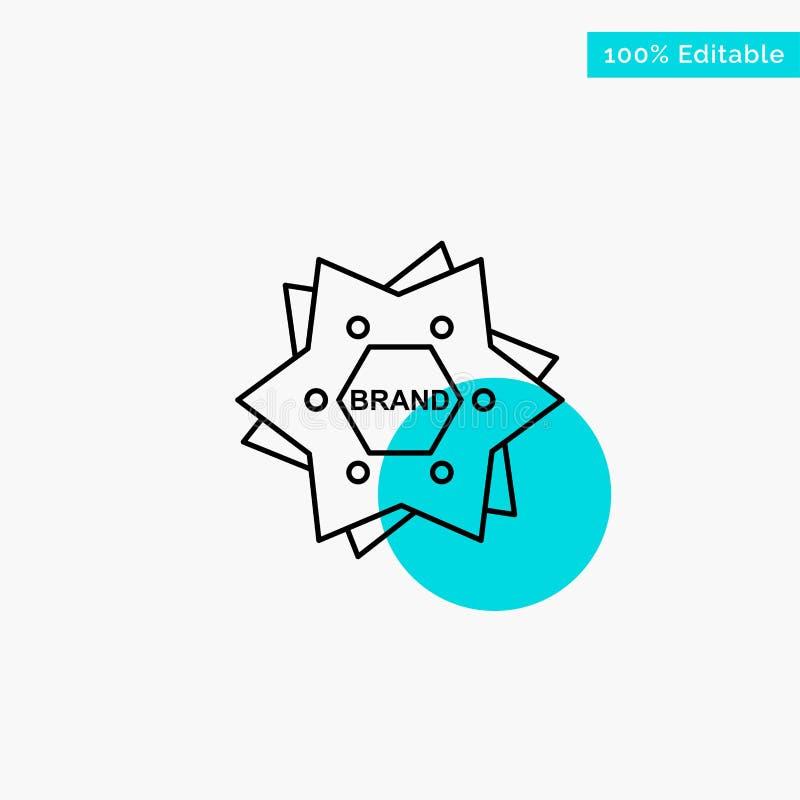 Stern, brennend, Marke, Logo, Formtürkishöhepunktkreispunkt Vektorikone ein vektor abbildung