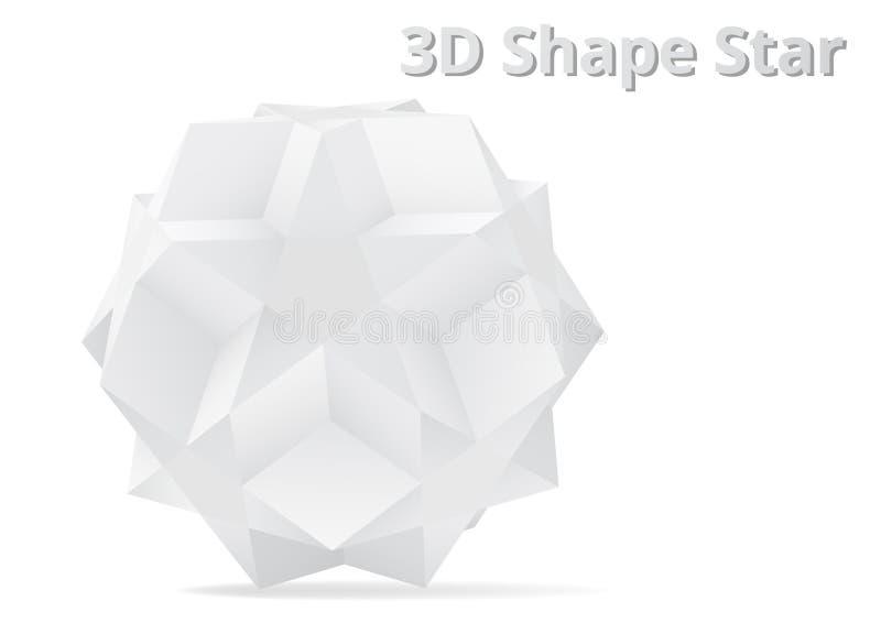 Stern der Form-3D vektor abbildung
