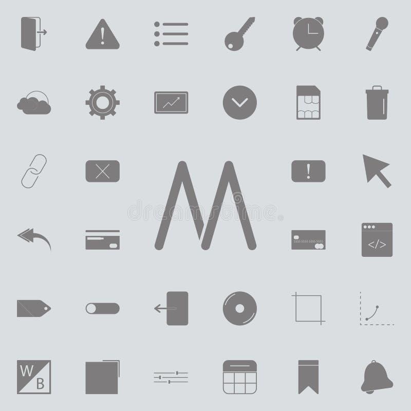 Stern in der Mitteilungsikone Ausführlicher Satz minimalistic Ikonen Erstklassiges Qualitätsgrafikdesignzeichen Eine der Sammlung stock abbildung