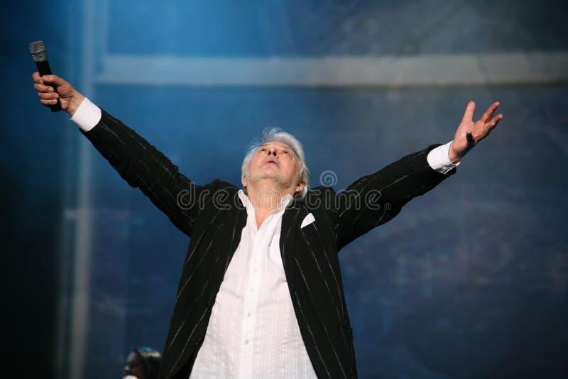 Stern der russischen und sowjetischen Musik, Idol der beliebten Musik, ehrte Mann, Millionär, Autor, Sänger, Komponist Vyacheslav stockfoto