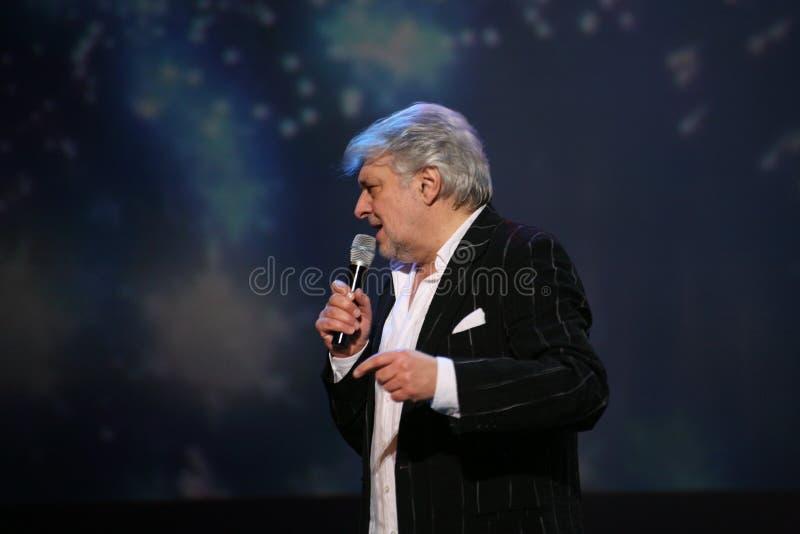 Stern der russischen und sowjetischen Musik, Idol der beliebten Musik, ehrte Mann, Millionär, Autor, Sänger, Komponist Vyacheslav stockbild