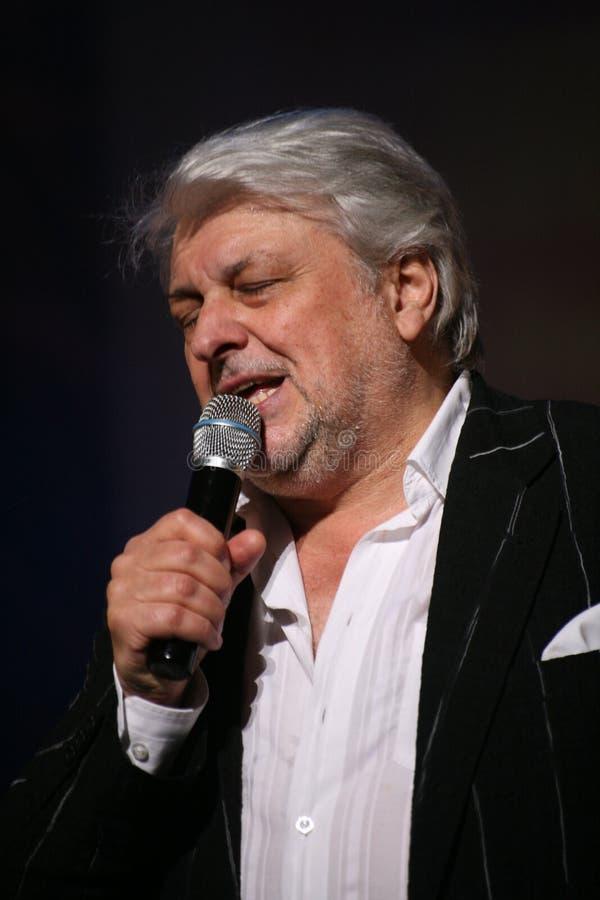 Stern der russischen und sowjetischen Musik, Idol der beliebten Musik, ehrte Mann, Millionär, Autor, Sänger, Komponist Vyacheslav lizenzfreie stockbilder