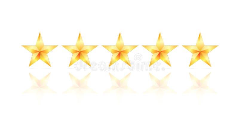 Stern des Gold fünf lizenzfreie abbildung