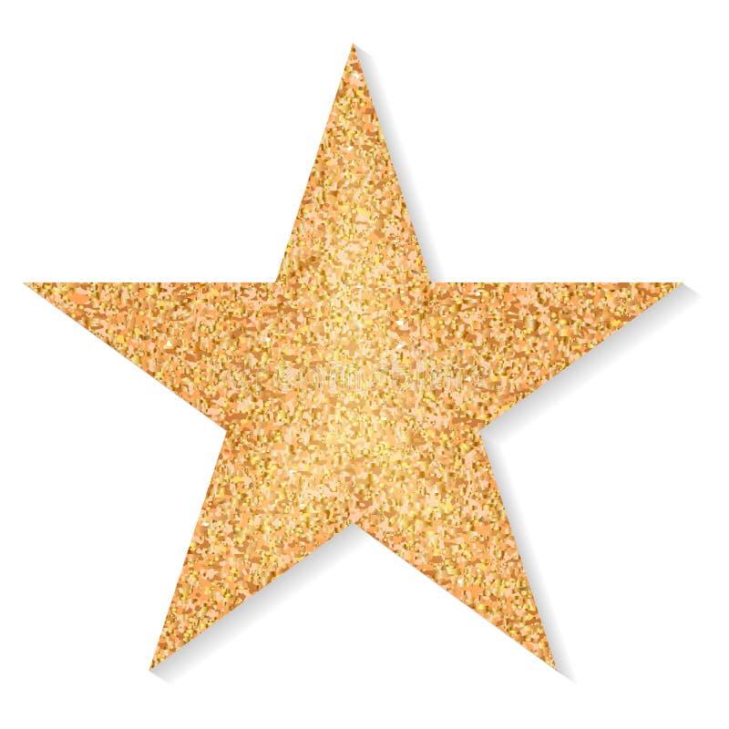 Stern des Goldfunkelns auf einem weißen Hintergrund stock abbildung