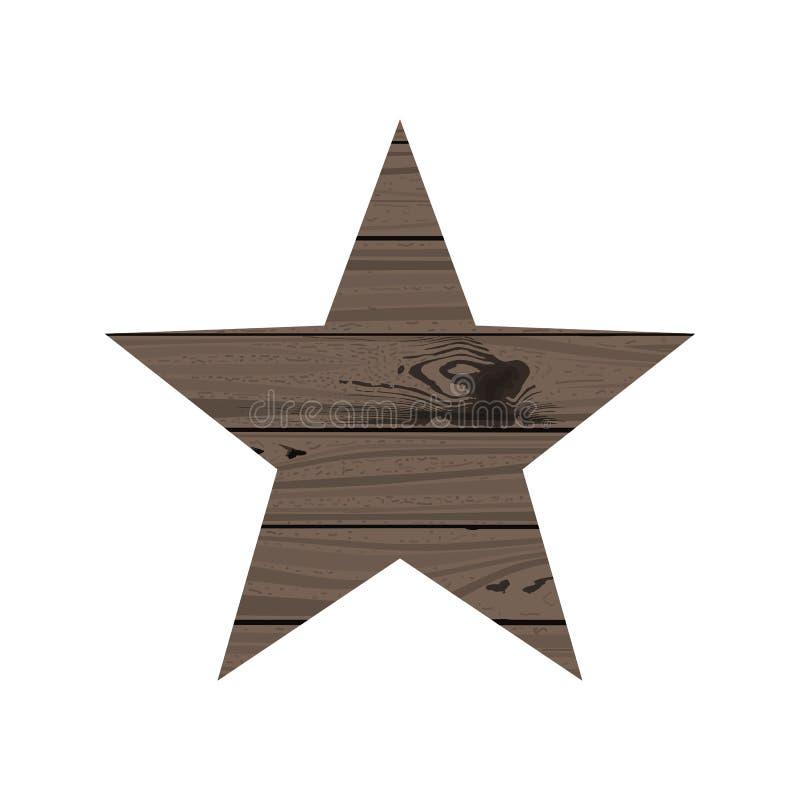 Stern des Holzes vektor abbildung