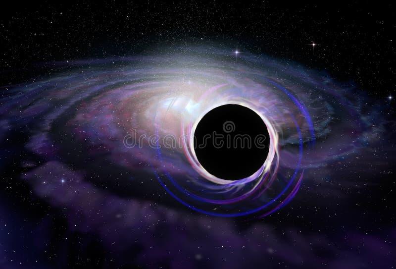 Stern des schwarzen Lochs im Weltraum, Illustration stock abbildung