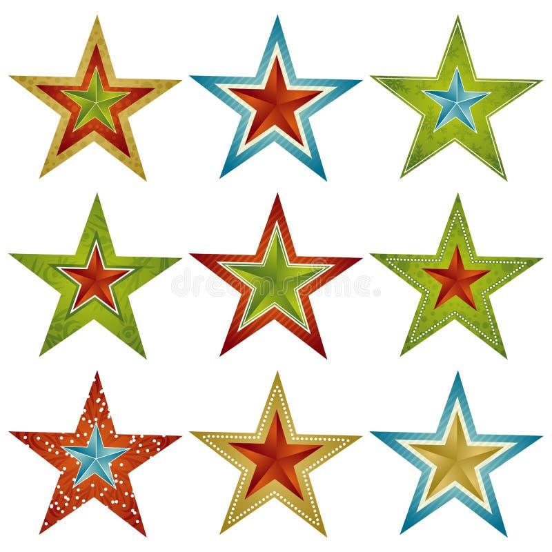 Stern des Weihnachten neun, Vektor lizenzfreie abbildung