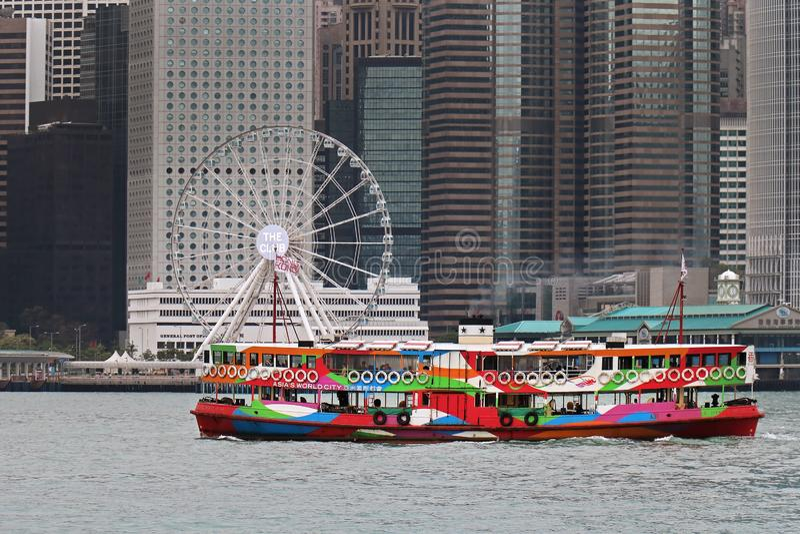 Stern-Fähre in Hong Kong stockfotografie