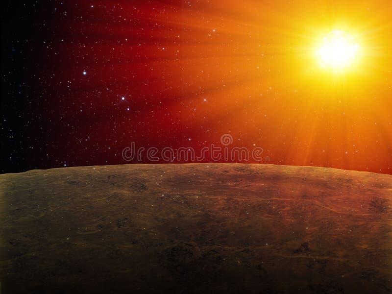 Stern gesehen von einem exoplanet vektor abbildung