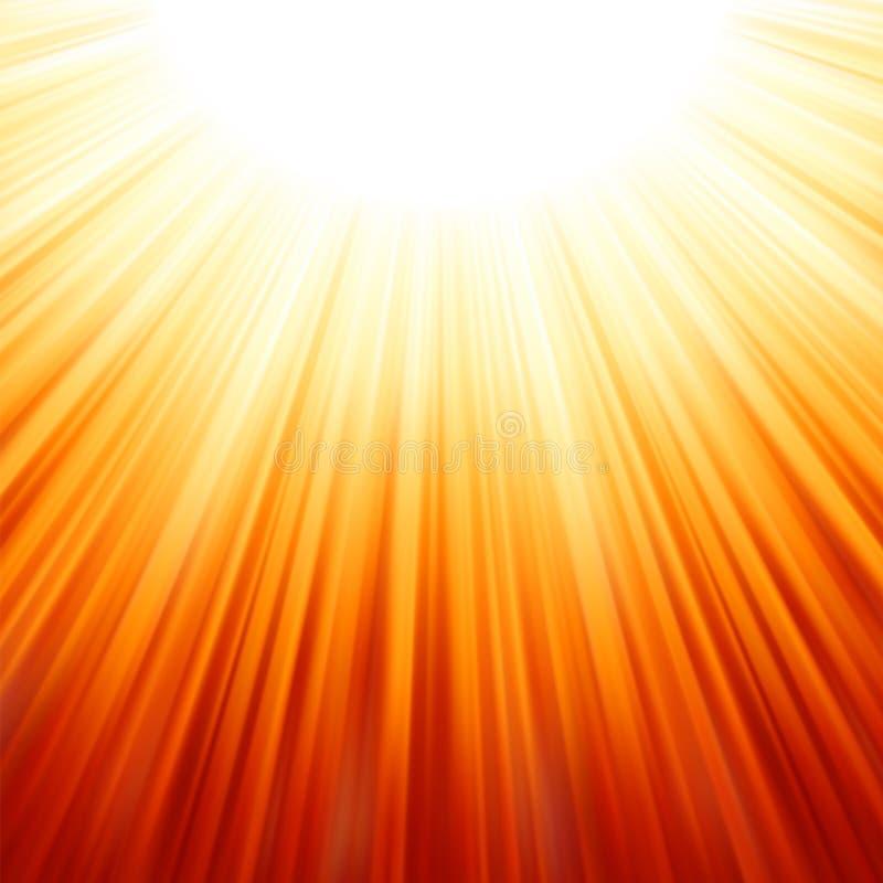 Stern gesprengtes rotes und gelbes Feuer. stock abbildung