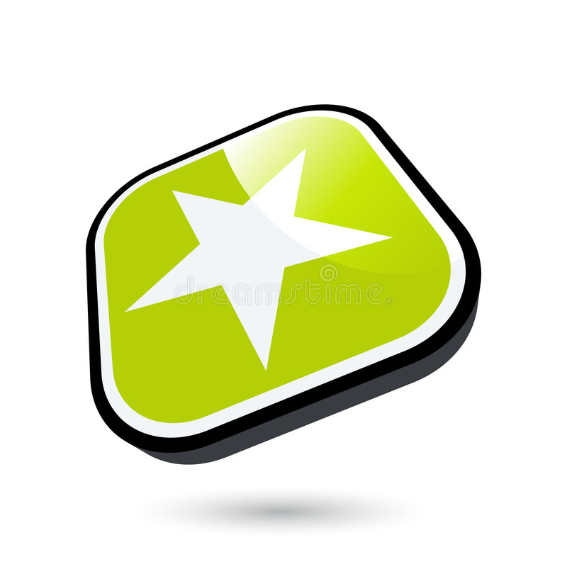Stern-Ikone stock abbildung
