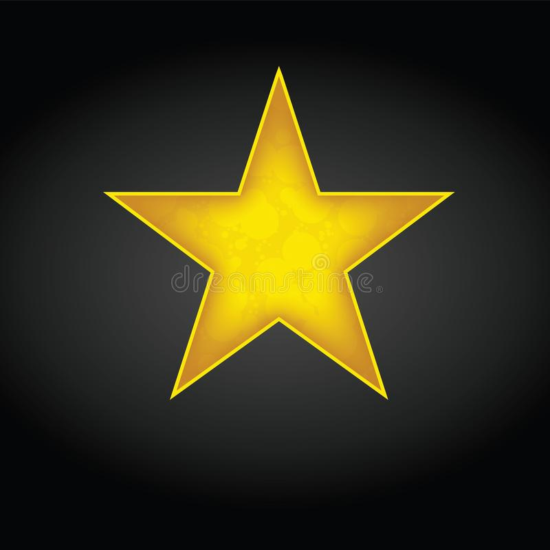 Stern-Ikonen-Vektor Veranschlagendes Symbol f?r Webdesign - Vektor stock abbildung