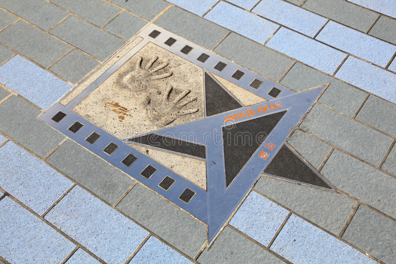 Stern Jackie-Chan, Hong Kong lizenzfreie stockfotos