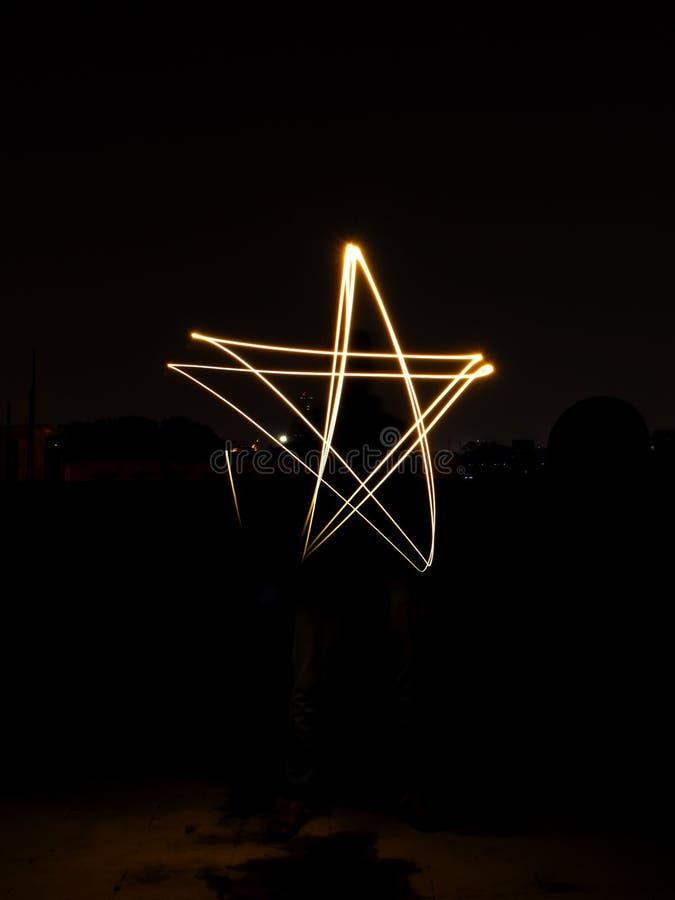 Stern-Licht-Malerei stockfotos