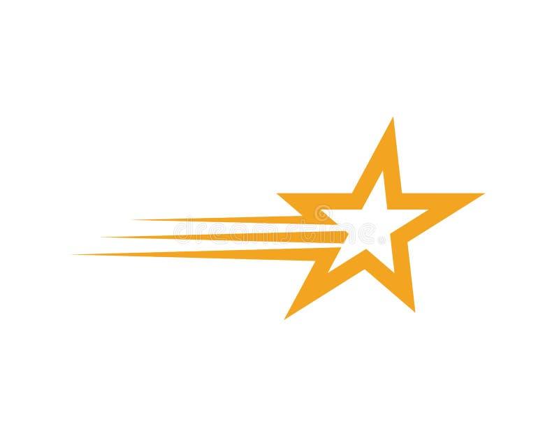 Stern Logo Template stock abbildung