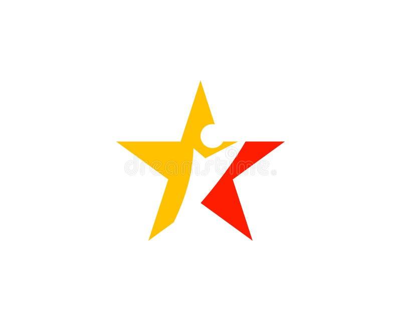 Stern Logo Template der menschlichen Figur vektor abbildung