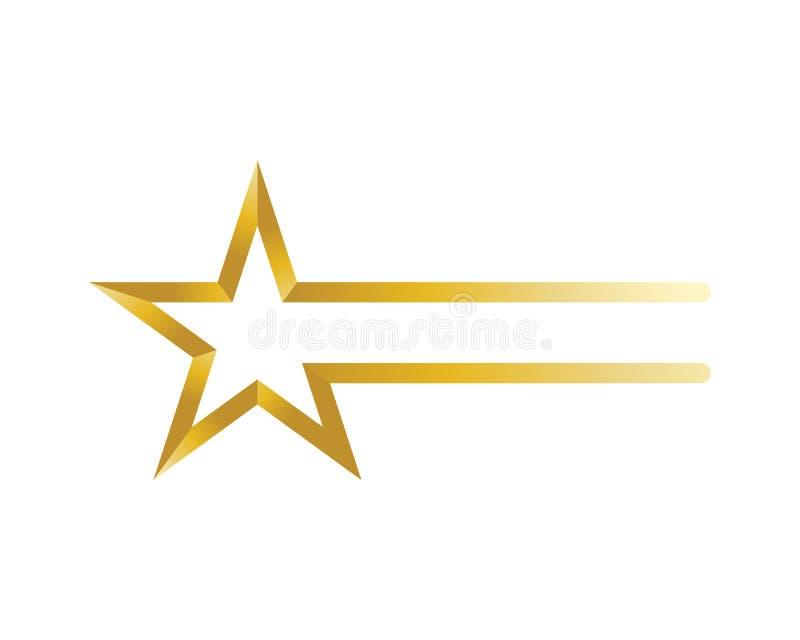 Stern-Logo und Symbolikonen Schablonen-APP lizenzfreie abbildung