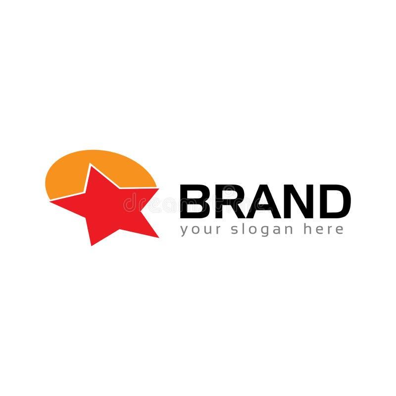 Stern Logo Vector Flaches Logodesign stock abbildung