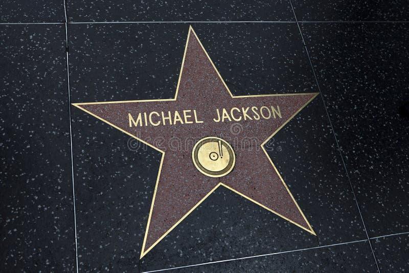 Stern Michael Jackson auf dem Hollywood lizenzfreie stockfotografie