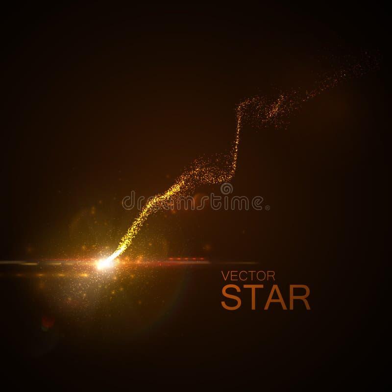 Stern mit glühender Spur lizenzfreie abbildung