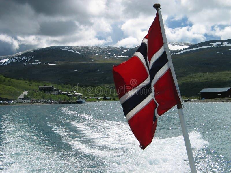 stern norweskie bandery statku obrazy royalty free