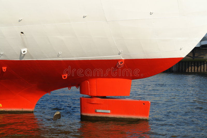 Stern of an old cargo vessel royalty free stock photo