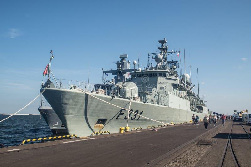 Stern Portugalia okręt wojenny w schronieniu zdjęcia royalty free