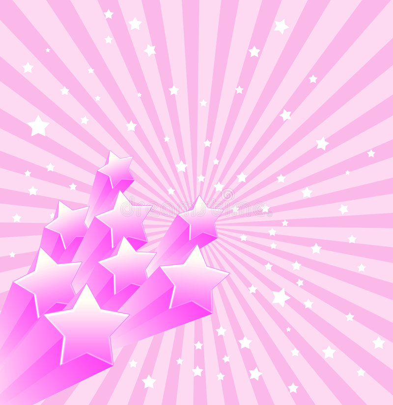 Stern-Retro- Hintergrund stock abbildung
