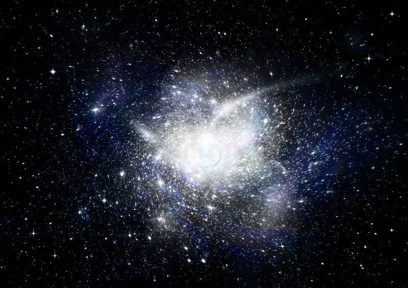 Stern-, Staub- und Gasnebelfleck in einer weiten Galaxie stockbilder