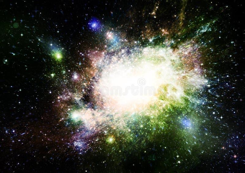 Stern-, Staub- und Gasnebelfleck in einer weiten Galaxie stockbild