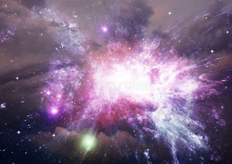 Stern-, Staub- und Gasnebelfleck in einer weiten Galaxie lizenzfreie stockbilder