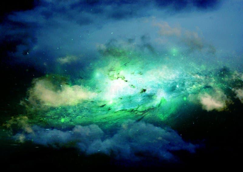 Stern-, Staub- und Gasnebelfleck in einer weiten Galaxie lizenzfreies stockfoto