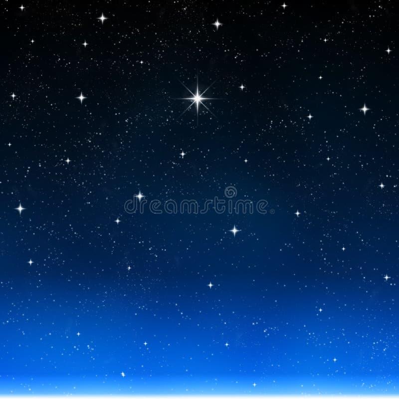 Stern sternenklaren nächtlichen Himmel wünschen   stock abbildung