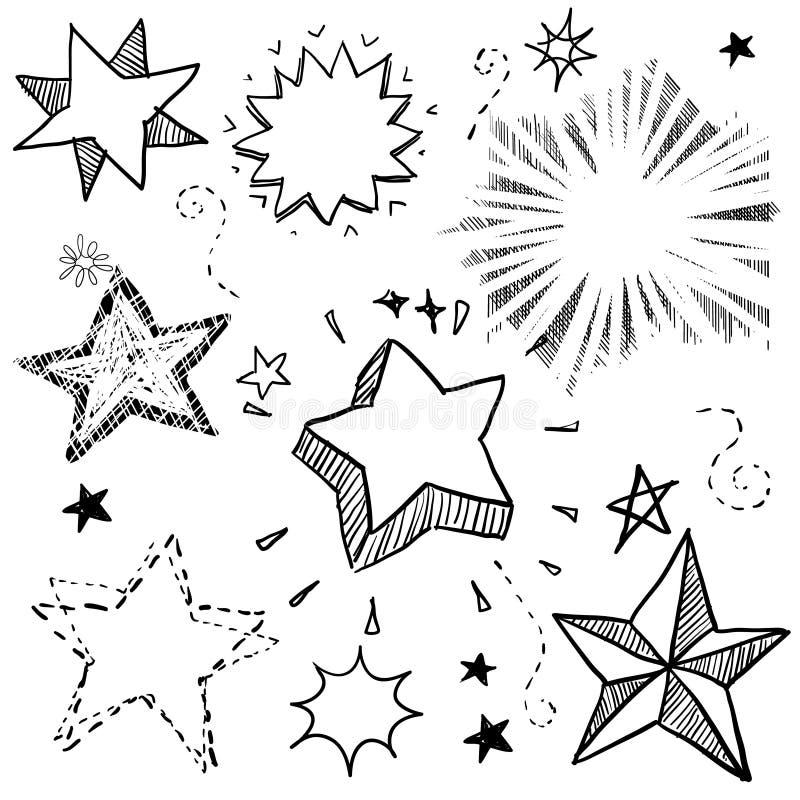 Stern- und Explosionabbildung lizenzfreie abbildung