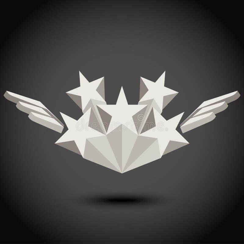 Stern und Flügel lizenzfreie abbildung