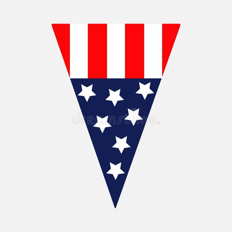 Weiß Rot Blaue Flagge: Rote Dreieck-Flagge Stock Abbildung. Illustration Von